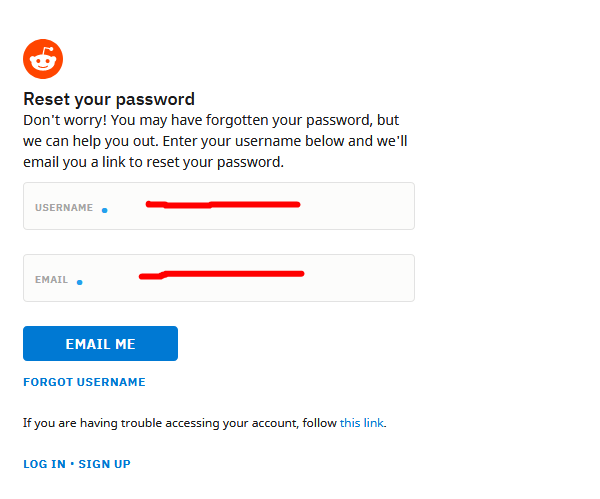 How to recover your Reddit Username